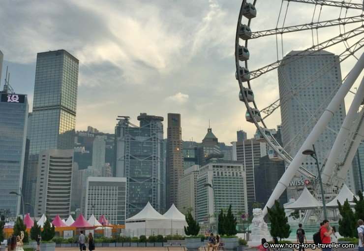 The Hong Kong Central Promenade and Observation Wheel