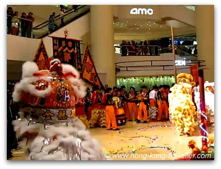 Chinese New Year Lion Dance in Hong Kong
