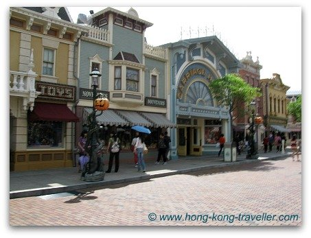Main Street USA at Hong Kong Disneyland