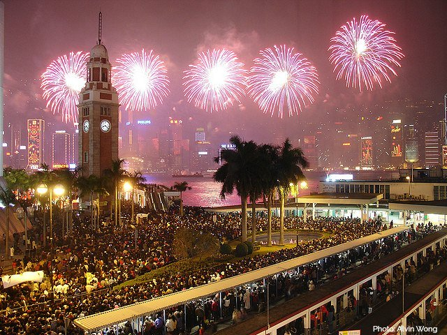 Hong Kong Fireworks views from Clocktower