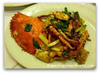 Stir Fried Crab, another seafood staple in Hong Kong