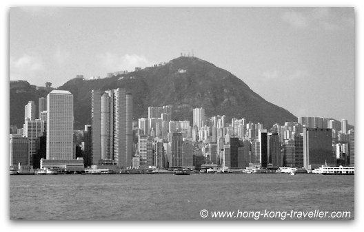 Hong Kong Skyline in the 80's