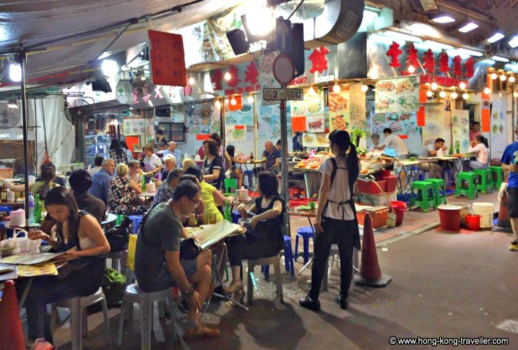 Street Food Stalls at Temple Street Night Market