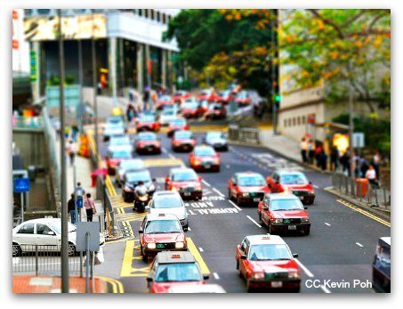 Hong Kong Taxis are plentiful day and night
