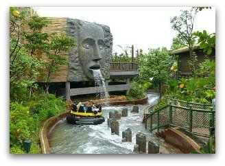 Rainforest water ride at Ocean Park