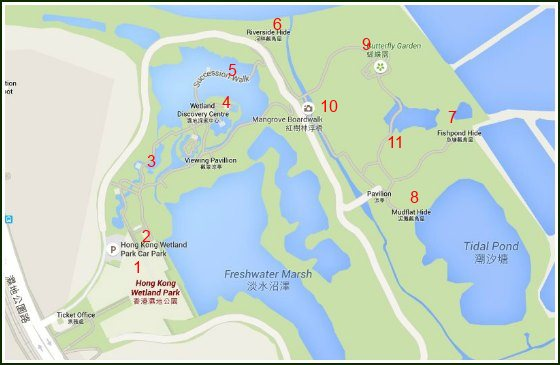 Hong Kong Wetland Park Map