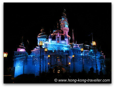 Sleeping Beauty Castle - night