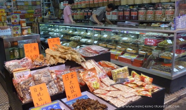 Ladies Market Hong Kong - dried food shops