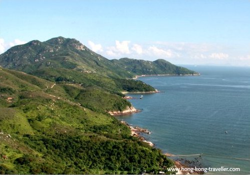 Beautiful Mountain and Ocean Scenery in Lamma Island