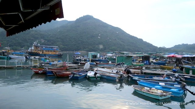 The Sok Kwu Wan Seafood Village in Lamma Island