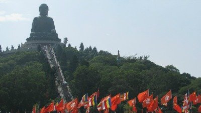 The Big Buddha atop Ngong Ping Plateau