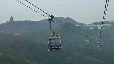 Ride on the Ngong Ping Cable Car