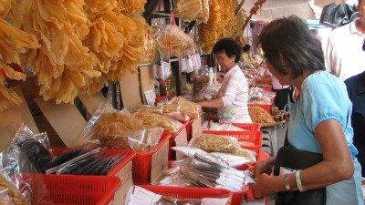 Market stalls in Tai O