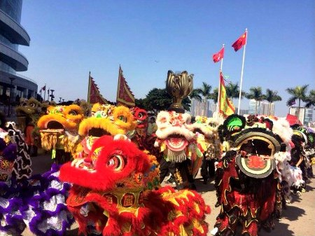 Lion Dance Extravaganza Performances at Bauhinia Square