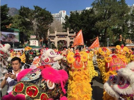 Lion Dance Extravaganza Performances at Wong Tai Sin Temple
