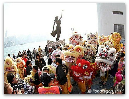 Lion Dragon Dance Hong Kong