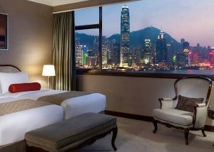 Harbour view room  at Marco Polo Hong Kong