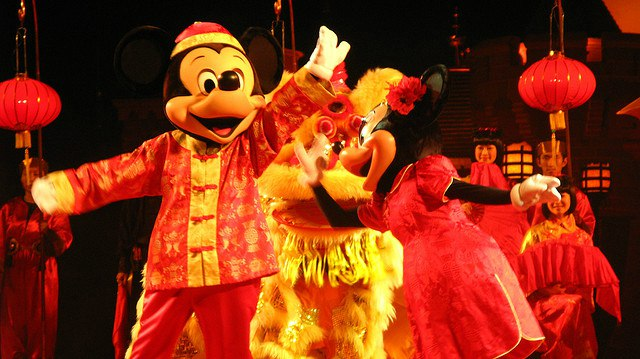 Mickey at Disney Land Hong Kong Chinese New Year Show
