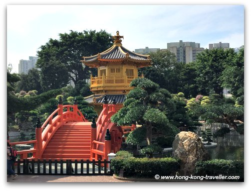 Nan Lian Garden Pavillion and Red Bridge