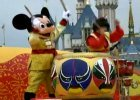 Mickey plays drums at Disneyland for CNY