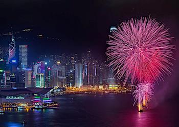 Fireworks Views at Harbour Grand Hotel in Hong Kong