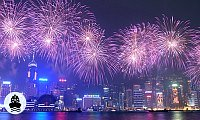 New Years Eve Fireworks Cruise in Victoria Harbour Hong Kong
