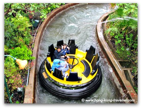 Water Guns attack at the Rapids Ride at Rainforest at Ocean Park