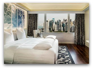 Harbour view room  at Park Lane Hotel in Hong Kong