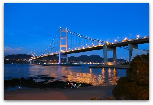 The Tsing Ma Bridge At Night