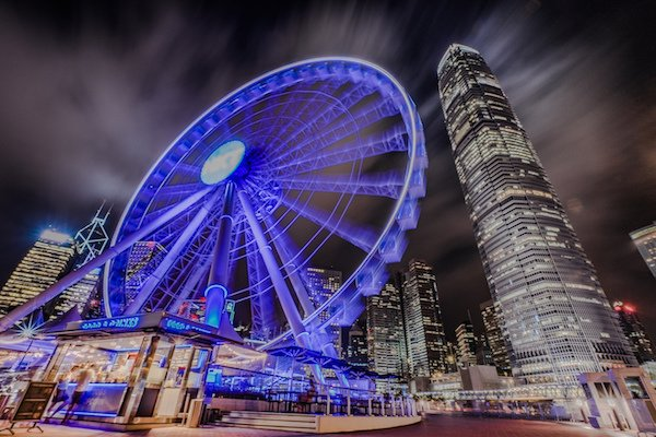Hong Kong Observation Wheel at Night