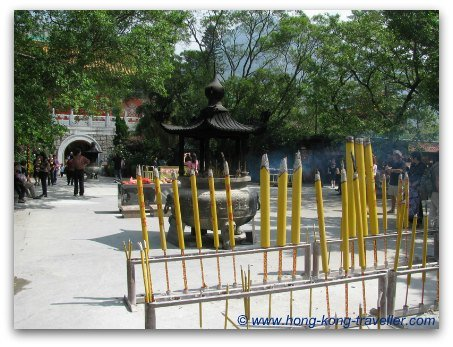 Po Lin Monastery Incense Offerings