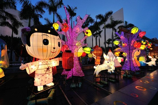 Mid-Autumn Festival Lanterns Hong Kong