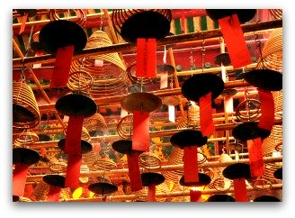 Incese Coils at Man Mo Temple