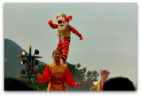 Tigger at Chinese New Year Show at HK Disney
