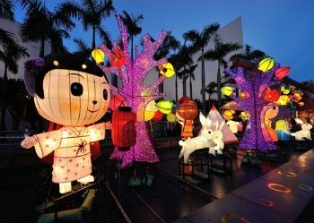 Mid-Autumn Festival Lanterns by the Clocktower in Tsim Sha Tsui
