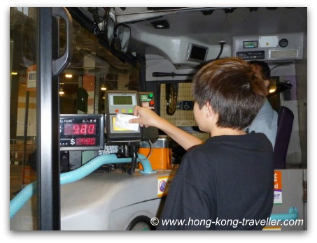 Using Octopus Card at HK Bus
