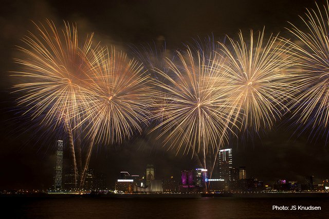 Hong Kong Fireworks view from near the Convention Centre