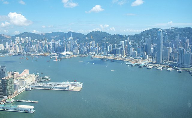 Views of Victoria Harbour from Sky 100 Observation Deck