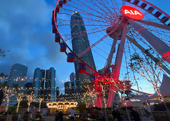 Christmas at the Hong Kong Observation Wheel