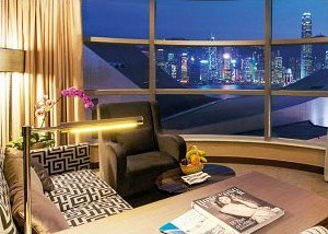 Harbour view  suite at the YMCA in Hong Kong